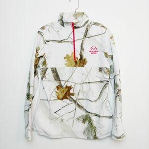 Realtree White Winter Camouflage Fleece Sweatshirt